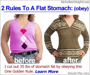 2 rules to a flat stomach